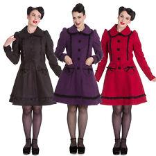 Hell Bunny Courtney Lace Lolita Vintage Retro 1950s Heart Pockets Winter Coat