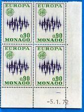 BLOC DE 4 TIMBRES   MONACO  N° 884 EUROPA  NEUF **  MNH BD63