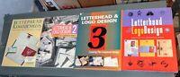 LETTERHEAD & LOGO DESIGN 4 VOLUMES VOLUME 1 2 3 4 ED. ROCKPORT 1992 1996 GRAPHIC