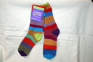 SOLMATE FUNKY MISMATCHED SOCKS~NWT SIZE M WOMEN 8-10-12  MEN 7-9 COSMOS