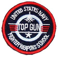 EMBROIDERED MAVERICK TOP GUN PATCH iron on cloth 80's US film collectors badge