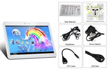 """NEW 10.1"""" IPS 3G ANDROID TABLET PC 4.2 OS 2 SIM CARDS 1G QUAD CORE VIDEOS GAMES"""