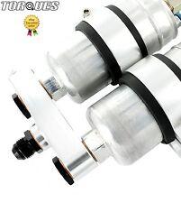 Twin bosch 044 pompe à essence en aluminium billet collecteur d'admission montage en argent
