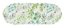 "Table Runner 54"" L - Ambrosia in Aqua by Park Designs - Blue Green Ivory Dining"