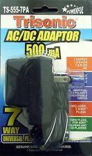 Universal Ac dc Power Adapter Output 3v 4.5v 6v 7.5v 9v 12v 500mA 2 Sony Plugs