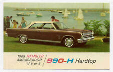 1965 RAMBLER AMBASSADOR DEALER PROMO POSTCARD PC1763