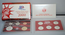 2000 United States Mint 10 Coin SILVER Proof Set NEW
