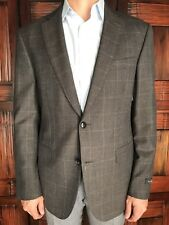Pal Zileri Mens Size 52R US 42R EU Brown Windowpane Check Blazer - New $1295