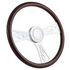 """18"""" Flames Wood Big Rig Steering Wheel Kenworth, Freightliner, Peterbilt etc"""