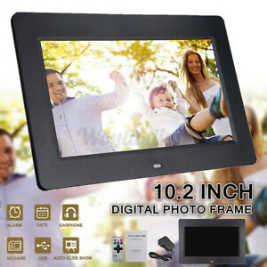 10.2'' HD Digital Photo Frame Clock Movie Music Player + Remote Control 1024x600