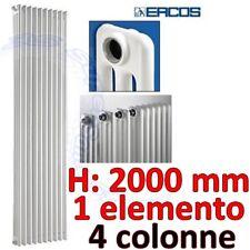 3S CALORIFERO RADIATORE TUBOLARE BIANCO 4 COLONNE H 2mt