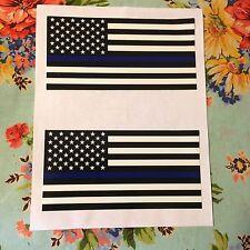 USA Flag Thin Blue Line Car Truck Bumper Sticker Decal Vinyl Police Lives Matte.