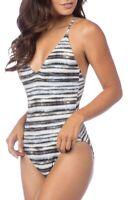 La Blanca Women's Strappy Back One-Piece Swimsuit Size 8 - Black 148481