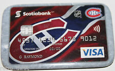 Montreal Canadiens Scotiabank Canada Visa Promotional Pin Magnet Attachment