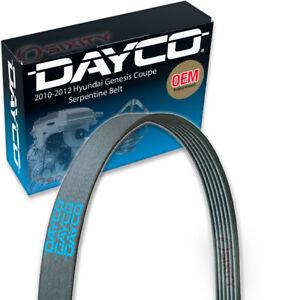 Dayco Main Drive Serpentine Belt for 2010-2012 Hyundai Genesis Coupe 2.0L L4 zd