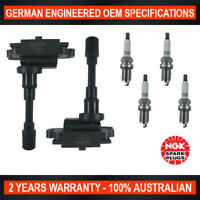 4x Genuine Iridium NGK Spark Plugs & 2x Ignition Coils for Suzuki Grand Vitara