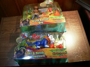 THE CROODS MACAWNIVORE MIX & MATCH FISHER PRICE 2012 + brute battlin guy