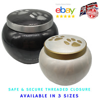 Chester Pet Cremation Ashes Urn with Paw Prints for Pet Cat Dog Ashes Memorial