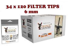 4080 stück ORANGE COUNTRY Slimfilter Drehfilter 6mm SLIM Zigarettenfilter NEU