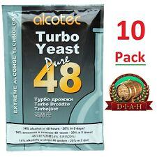 10 x Alcotec 48, Turbo Super Yeast, for vodka, moonshine - Free P&P Fast