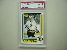 1986/87 O-PEE-CHEE NHL HOCKEY CARD #1 RAY BOURQUE PSA 8 NM/MINT SHARP+ 86/87 OPC