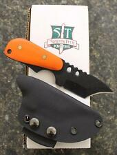 Shadow Tech STBUWIBPOG Backup Wicked Grind Plain Edge Knife Orange G10 Scales