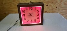 neon clock vintage used. has a scratch mark on the face of the clock inside.