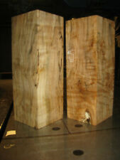 2 FIGURED BIG LEAF MAPLE WOOD TURNING LUMBER 3x3 x 8-1/2 - 9 VASE BLANK
