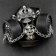 Steampunk Punk SKull Cosplay Mens Gas Mask masque