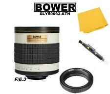 Bower 500mm f/6.3 Telephoto Mirror Lens for Nikon D5600 D5500 D3300 D3200 D7100