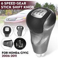 6 Marce Manuale Pomello Leva Del Cambio 54102-SNA-A01 Per Honda Civic 2006-2011