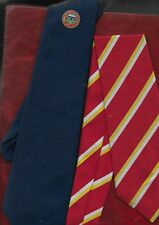 2 Bowls clubs neck ties, Gwinfi (Wales) and London + Southern Counties Ba 1970's