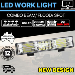 60 LED Work Light Bar  Spot Flood Beam Lamp Reverse Offroad 4x4 4WD 10-30V