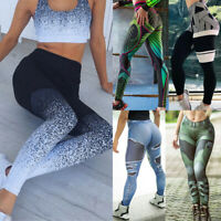 Women High Waist Yoga Pants Push-up Leggings Sports Gym Fitness Printed Trousers