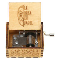 Retro Hand Cranked Music Box Wood Children Gift for Home Bedroom Ornaments P4PM