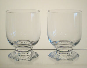 """MARIA ROSENTHAL CRYSTAL Old Fashioneds, Whiskeys 4"""", SET of TWO, CLASSIC ROSE"""