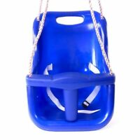 Rebo Back Supporting Baby Safety Swing Seat Adjustable Ropes - Blue