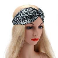 AU_ Ladies Women Animal Leopard Print Fashion Headband Headwrap Hair Band Twist
