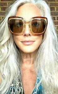 "VTG 60s 70s Jacques Esterel ""LOOK"" Big Lens Square Sunglasses Pink Lens France"