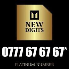 GOLD VIP PREMIUM DIAMOND PLATINUM MOBILE PHONE NUMBER SIM CARD 0777 67 67 67 *