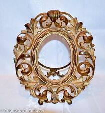Antique ART NOUVEAU Picture/Mirror Frame RETICULATED Gilt GOLD Scrolls Leaves