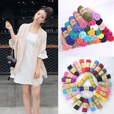 Fashion Women Long Beige Soft Cotton Linen Scarf Beach Wrap Shawl Scarves HOT