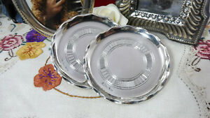Lovely Vintage Pair of Hallmarked Sterling Silver Pin Trinket Nut Dishes