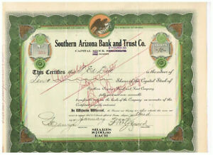 Southern Arizona Bank and Trust Co., 1927, VF