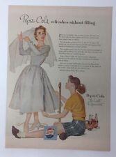 Magazine Print Magazine Ad 1954 PEPSI-COLA Light Refreshment Wedding