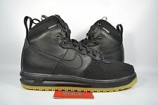 Nike Lunar Air Force 1 DUCKBOOT BLACK GUM BOTTOM 805899-003 sz 10 WINTER BOOTS