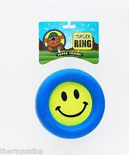 PET QWERKS HEAVY DUTY Tuflex Dog Ring Tennis Ball Frisbee Bounce Roll Throw 5.25