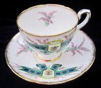 Royal Stafford Tartan Series Black Watch Bone China Tea Cup & Saucer - England