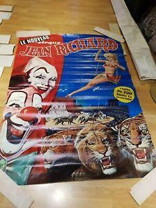 grande affiche pinder jean richard clowns et fauves