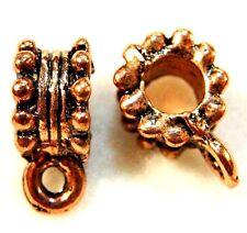 10Pcs. Tibetan Antique Copper BAILS Pendant or Charm Connectors Findings BA103